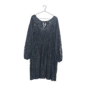 Lane Bryant Overlay Lace Fit & Flare Mini Dress 22